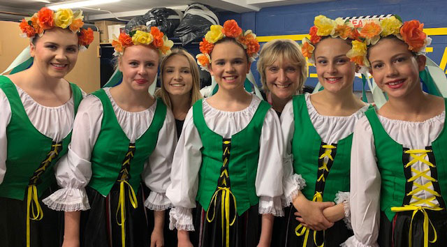 National Dance students in traditional costume